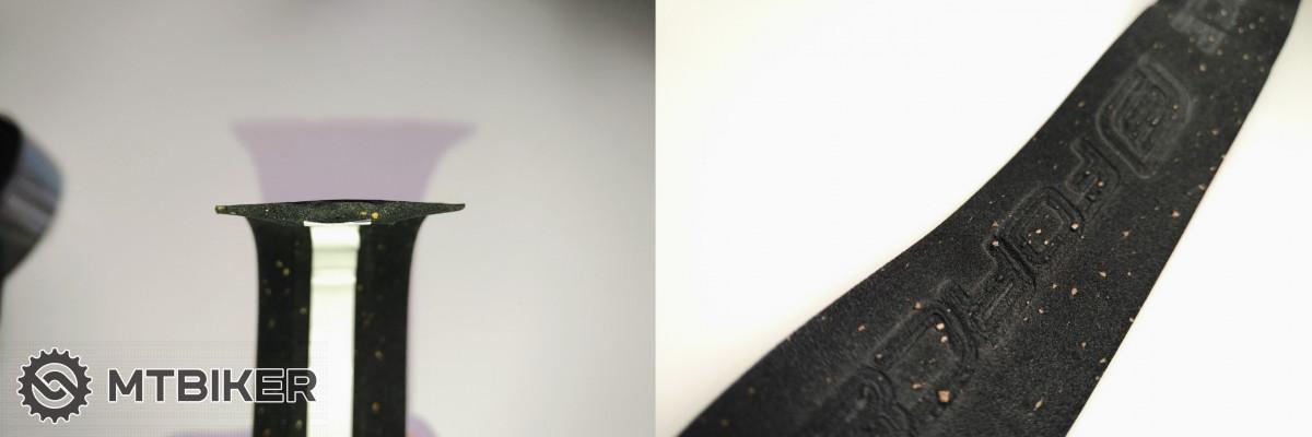 Průřez a detail povrchu korkové omotávky Force.
