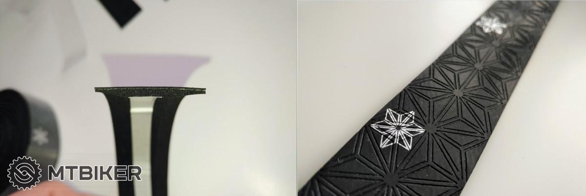 Supacaz Super Sticky Kush Galaxy - průřez a detail povrchu.