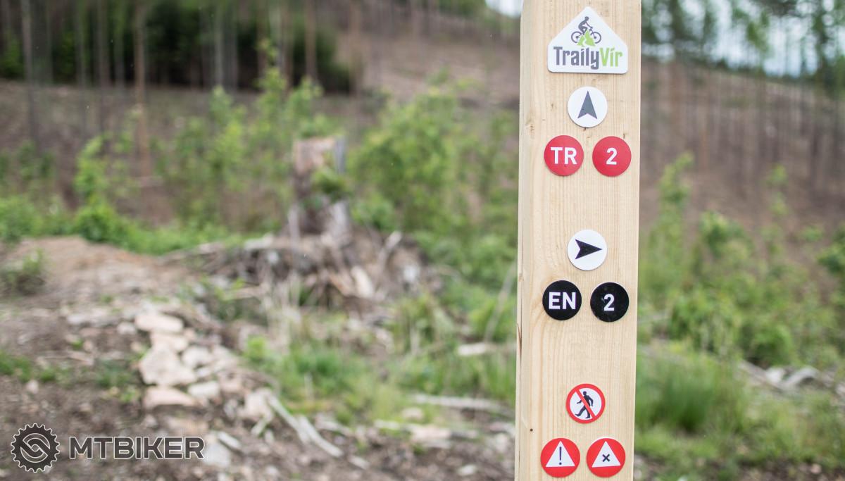 Značení na Sokolím trailu