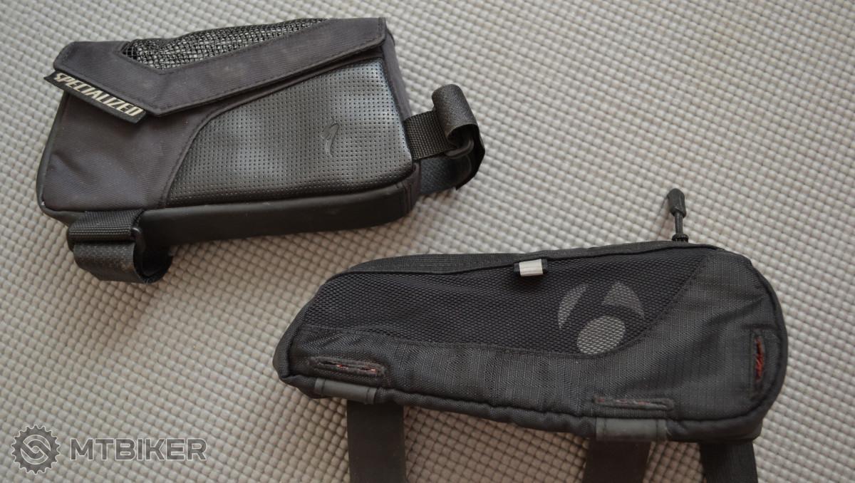 Triatlonové brašničky Specialized Vital Pack a Bontrager Pro Speed Box.