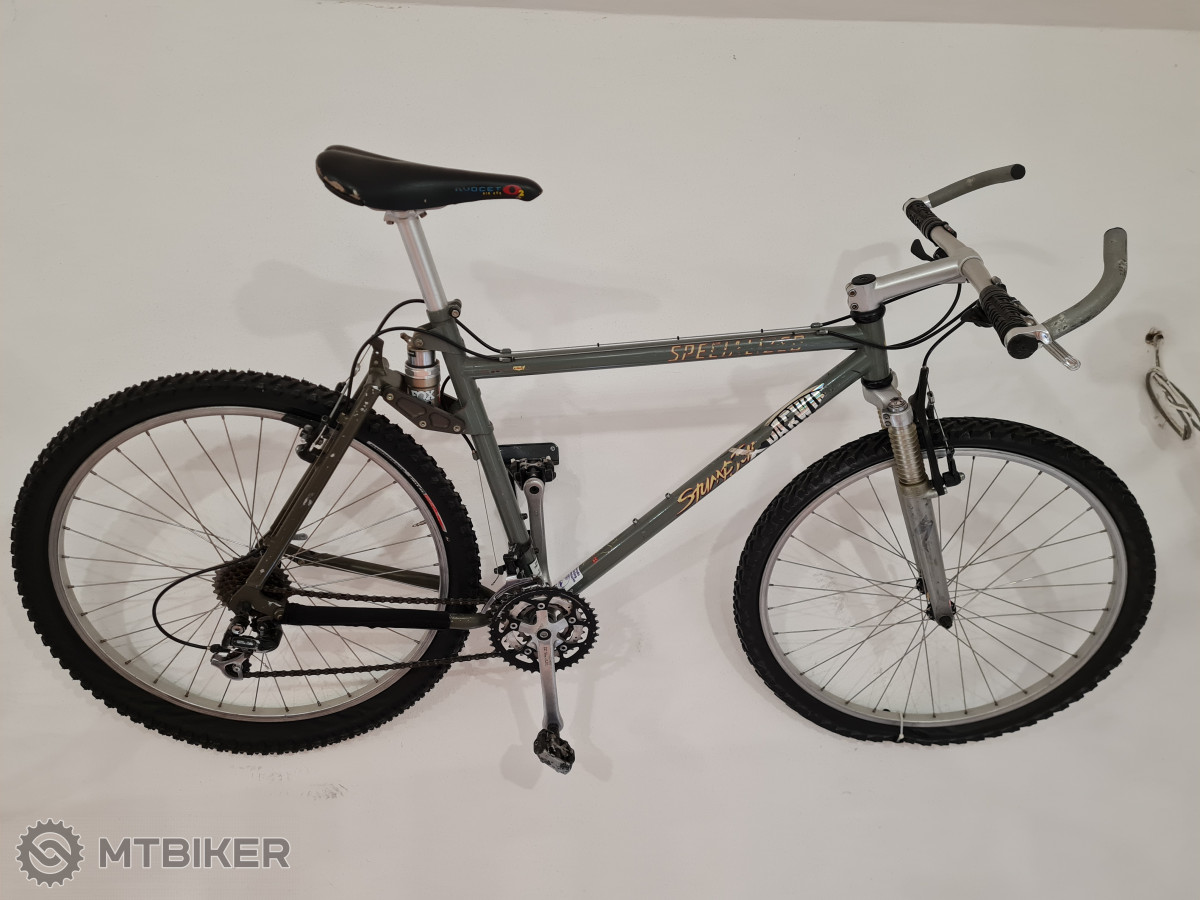 1994, Specialized Stumpjumper FSR, první celoodpružené kolo.