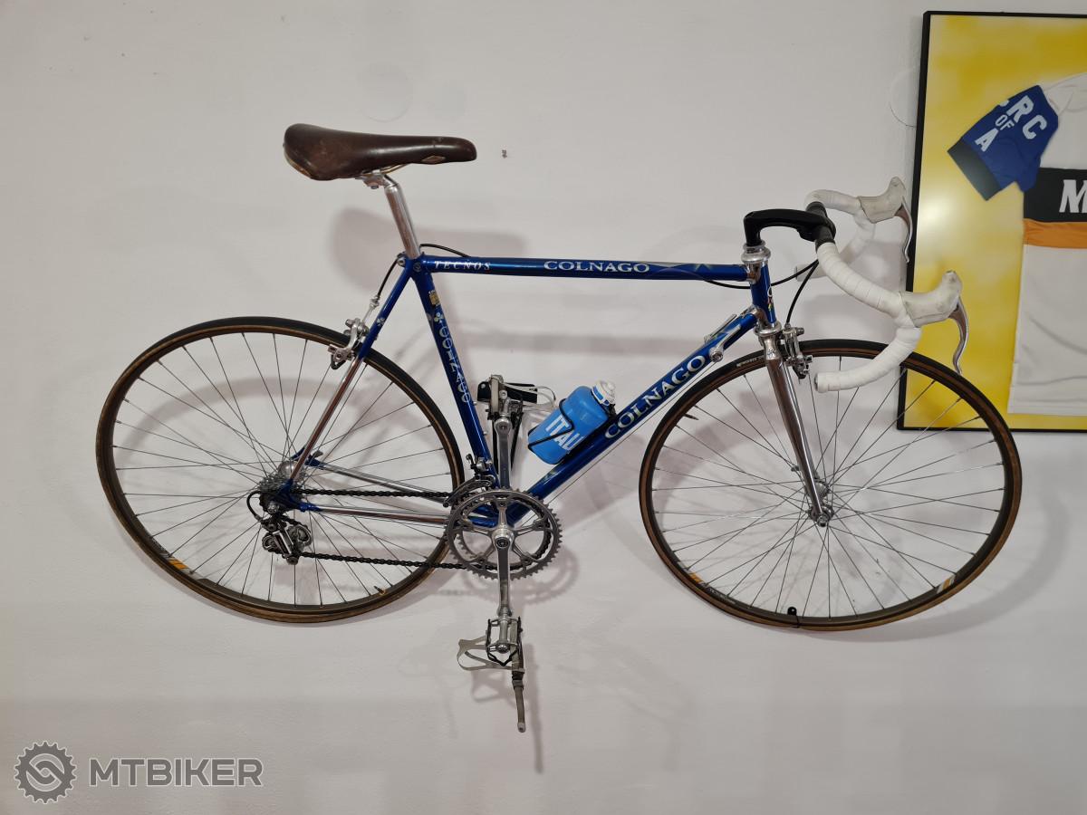 Colnago Tecnos 1987, rám z profilovaných trubek Columbus, osazen Campagnolo Super Recrod 1987, brzdy Cobalto.